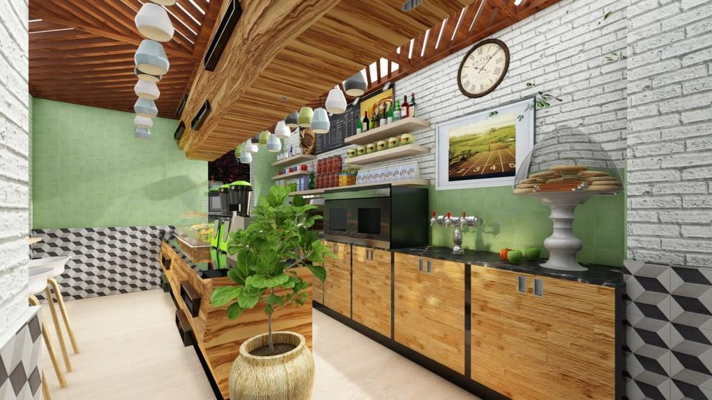 Cafe Jardin Interior Design - 3