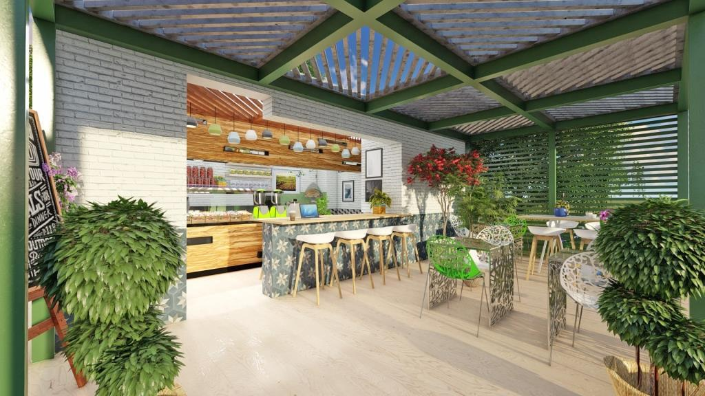 Cafe Jardin Interior Design - 5