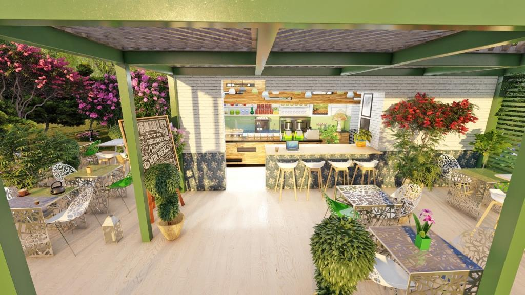Cafe Jardin Interior Design - 6