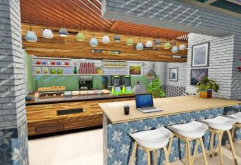 Cafe Jardin Interior Design