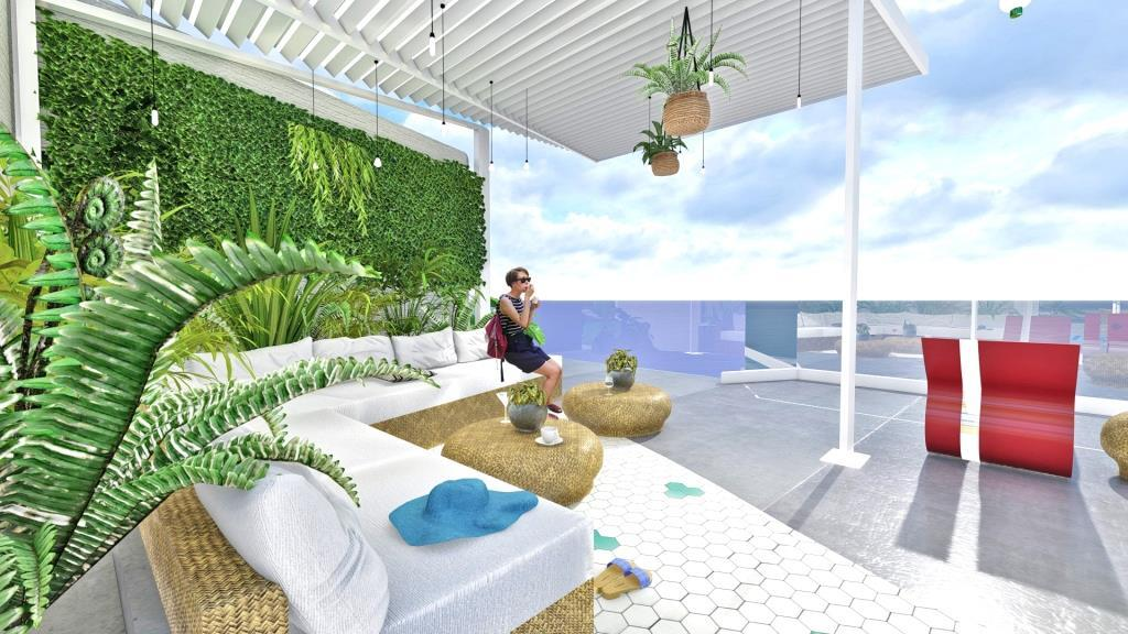 Pelagos Roof Garden Interior Design Gk Skiadopoulos