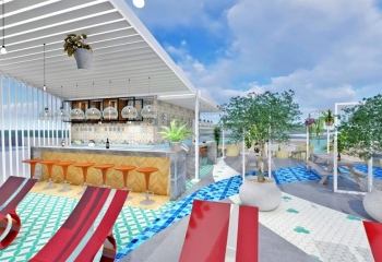 Pelagos Roof Garden Interior Design